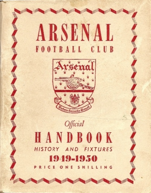 1949-50 Arsenal Handbook front cover
