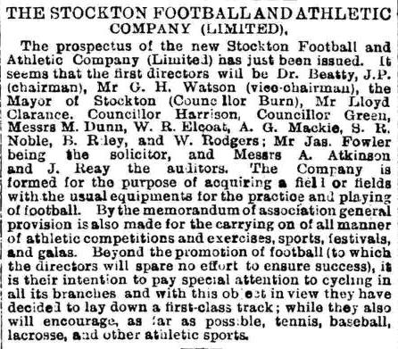Stockton FC is incorporated