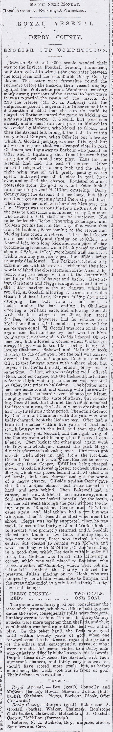 Woolwich Gazette 23 January 1891