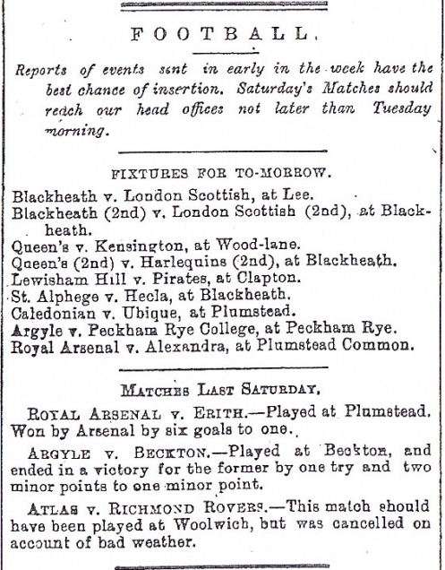 Woolwich Gazette 14 January 1887