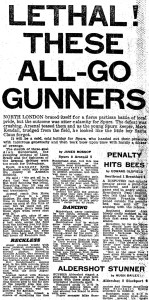 23 December 1978 Tottenham 0 The Arsenal 5