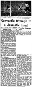 1952 FA Cup Final report (click to enlarge)