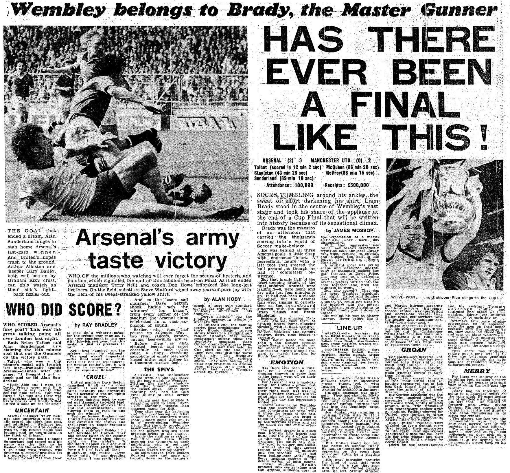 d2c446bd2 Arsenal s Complete FA Cup Final Record – The Arsenal History