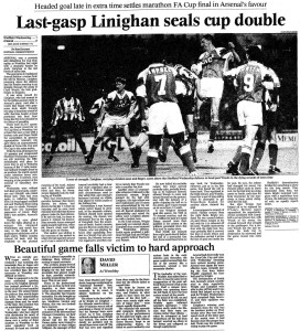 1993 FA Cup Final replay report (click to enlarge)