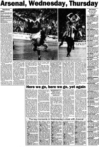 1993 FA Cup Final report (click to enlarge)