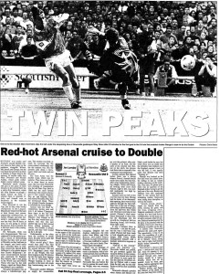 1998 FA Cup Final report (click to enlarge)