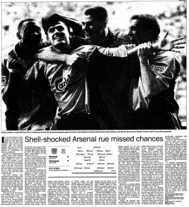 2001 FA Cup Final report (click to enlarge)