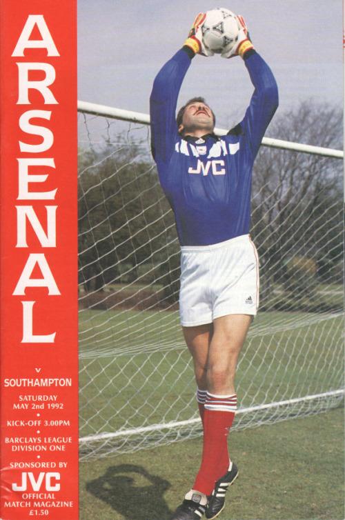 1992-05-02 Arsenal v Southampton programme cover