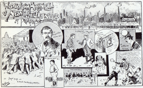 2 September 1893 Woolwich Arsenal v Newcastle United Click on the picture to enlarge
