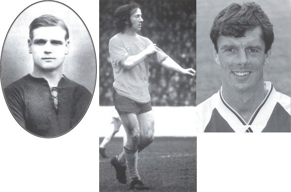 Alf Baker, George Armstrong and David O'Leary