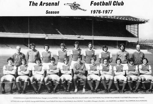 The Arsenal pre season team photo