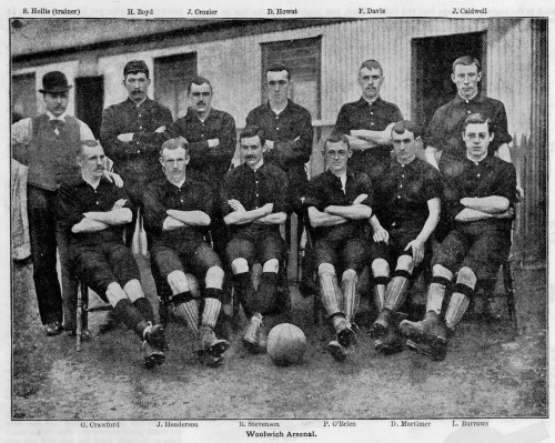 1894-95 Woolwich Arsenal team photo - Boys Own Paper