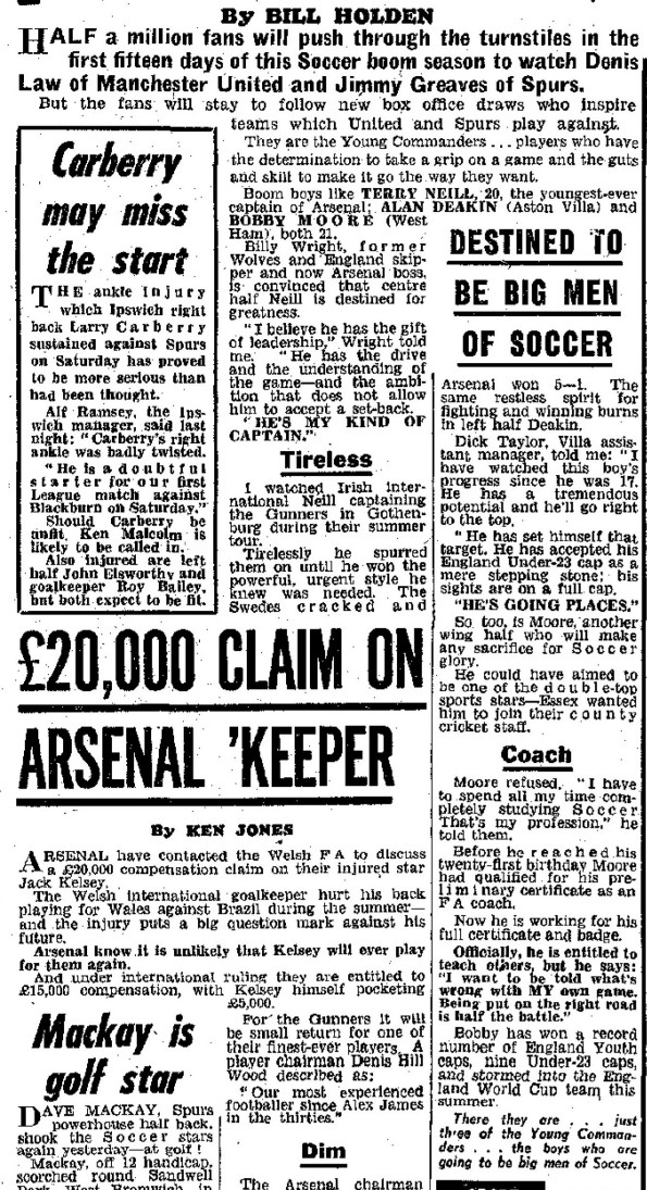 Daily Mirror 14 August 1962