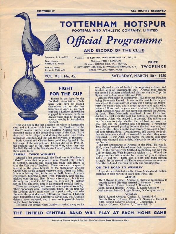 1950 Arsenal v Chelsea
