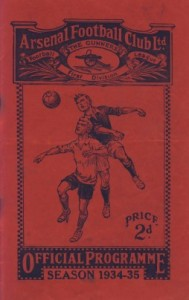 Arsenal programme 1934-35