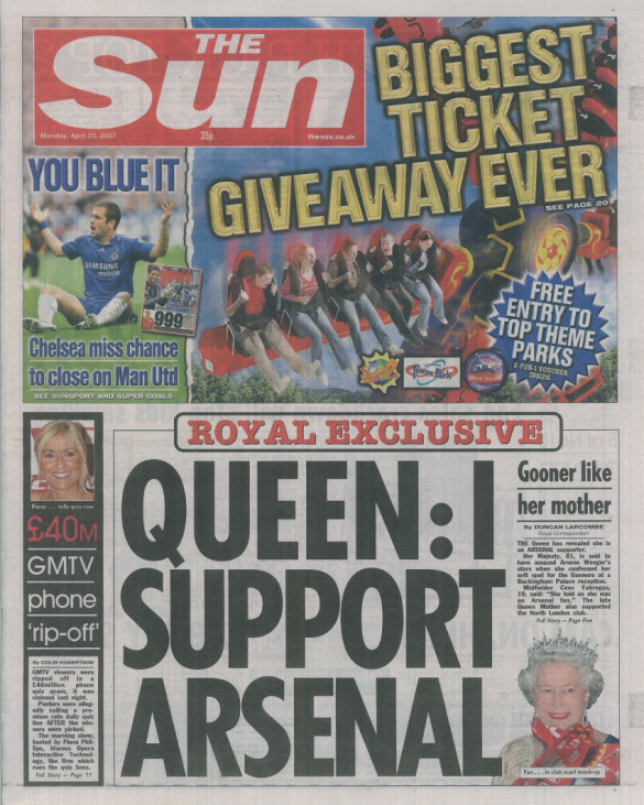 Queen - I Support Arsenal