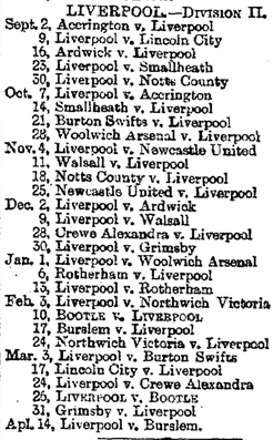 1893-06-06 - Liverpool Mercury Liverpool fixtures