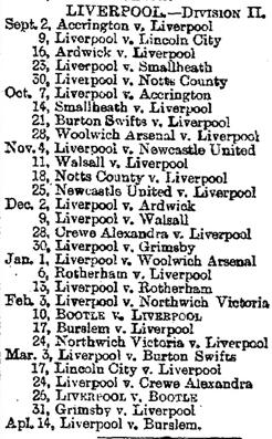 1893-06-06 - Liverpool Mercury Liverpool fixtures