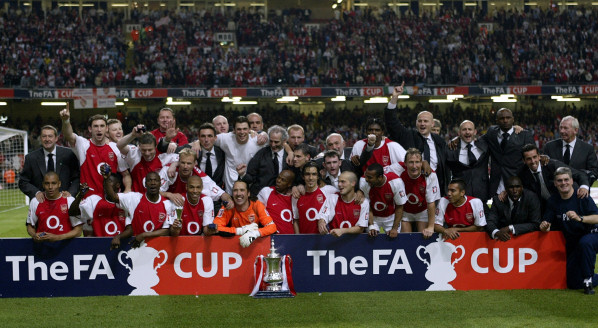 Arsenal won the first FA Cup final played indoors