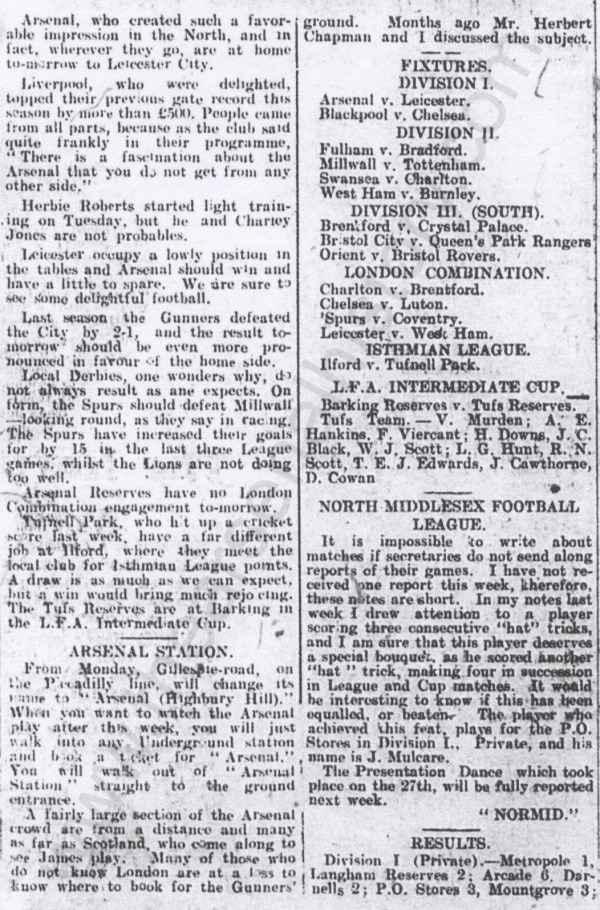 1932-10-28 IG - renaming of tube station article only