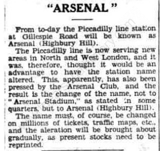 1932-11-01 Sunderland Daily Echo - Gillespie Road station renamed