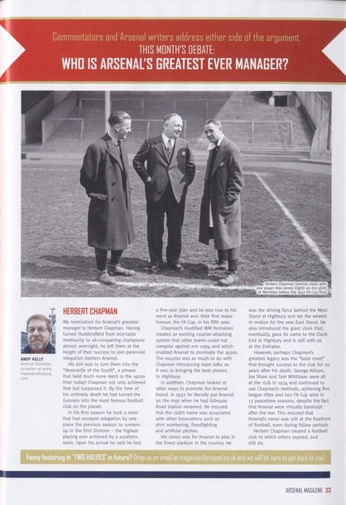 Andy Kelly on Herbert Chapman