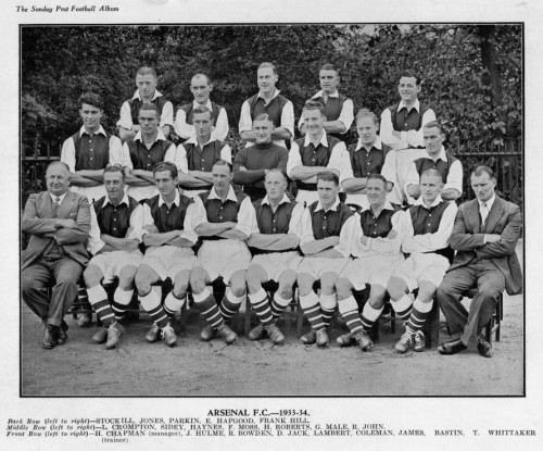 1933-34 Arsenal team photo