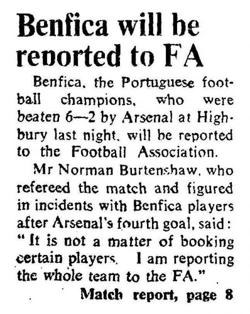 1971-08-05 Benfica not so friendly
