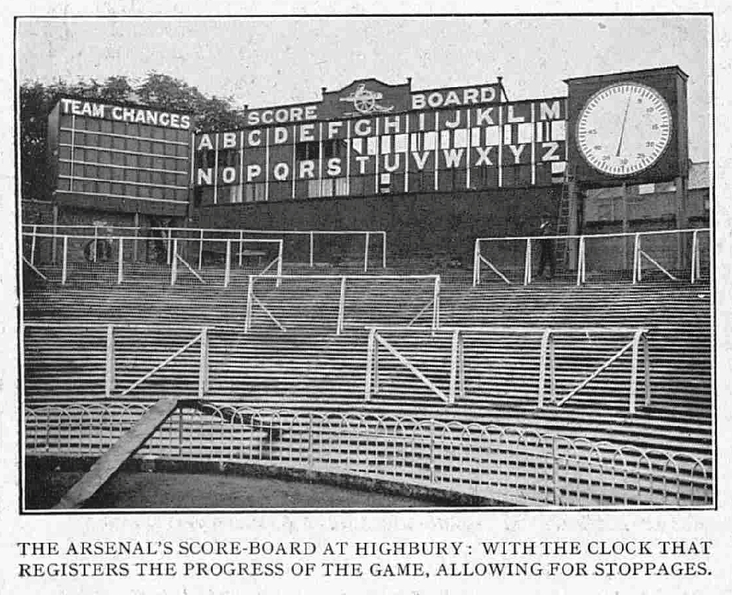 The Original Clock in the information centre at Highbury - 20 September 1930
